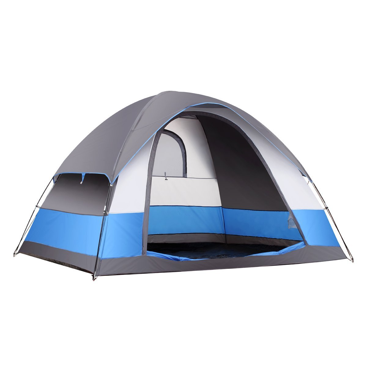 SEMOO Water Resistant 5 Person 3-Season Lightweight Family Dome Tent for Camping