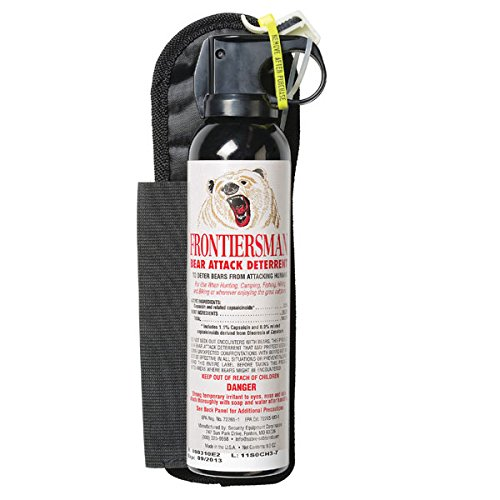 Sabre Frontiersman Bear Spray with Chest or Belt Holster 9.2 oz
