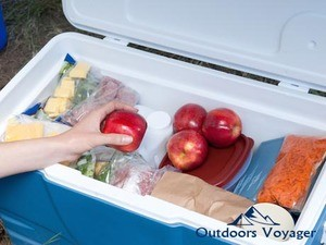 how to store food while camping