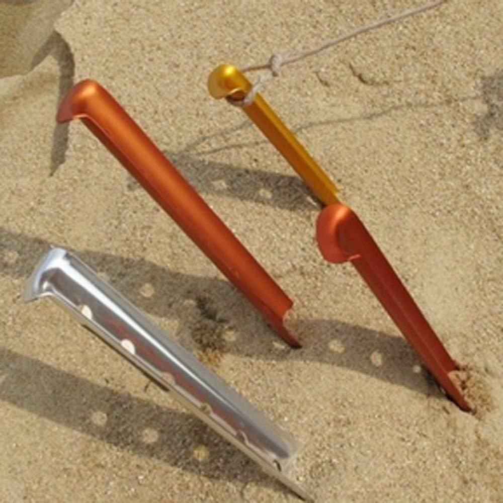 Cosmos Aluminum Tent Stakes in sand