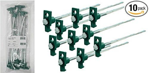 SE 9NRC10 Galvanized Non-Rust Heavy Duty Metal Tent Pegs Stakes