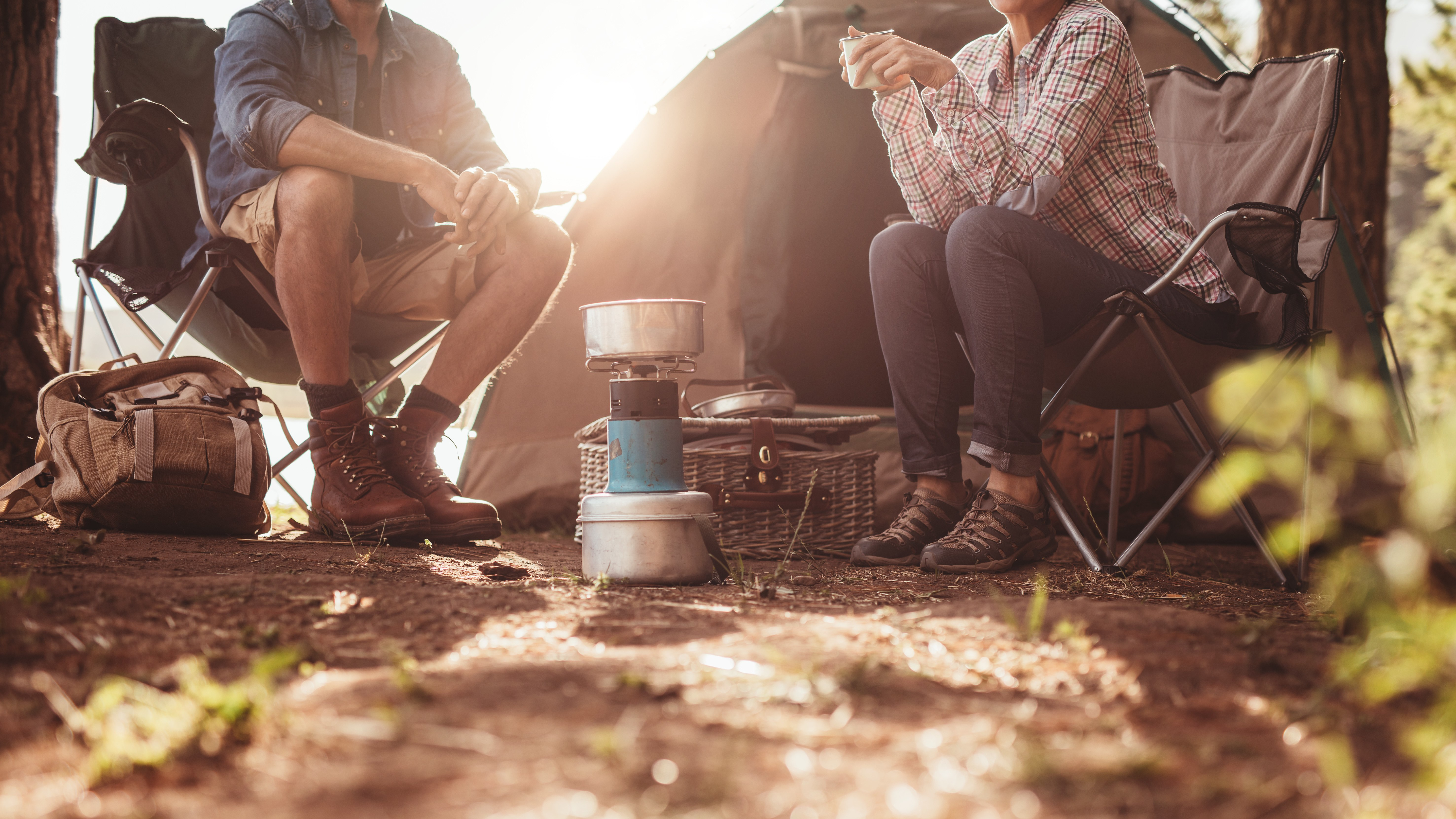 Eating food while camping