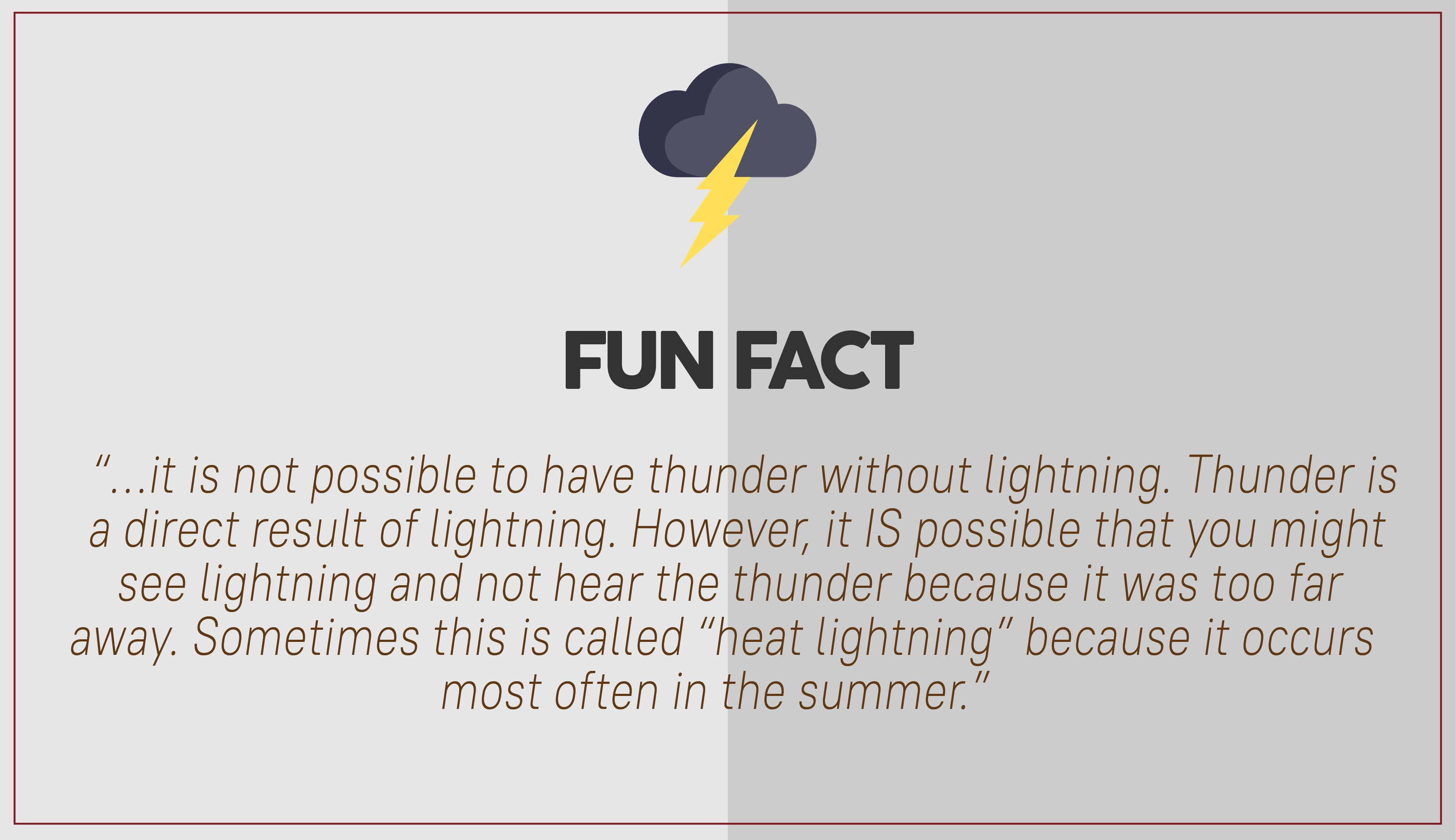 Thunder fun fact