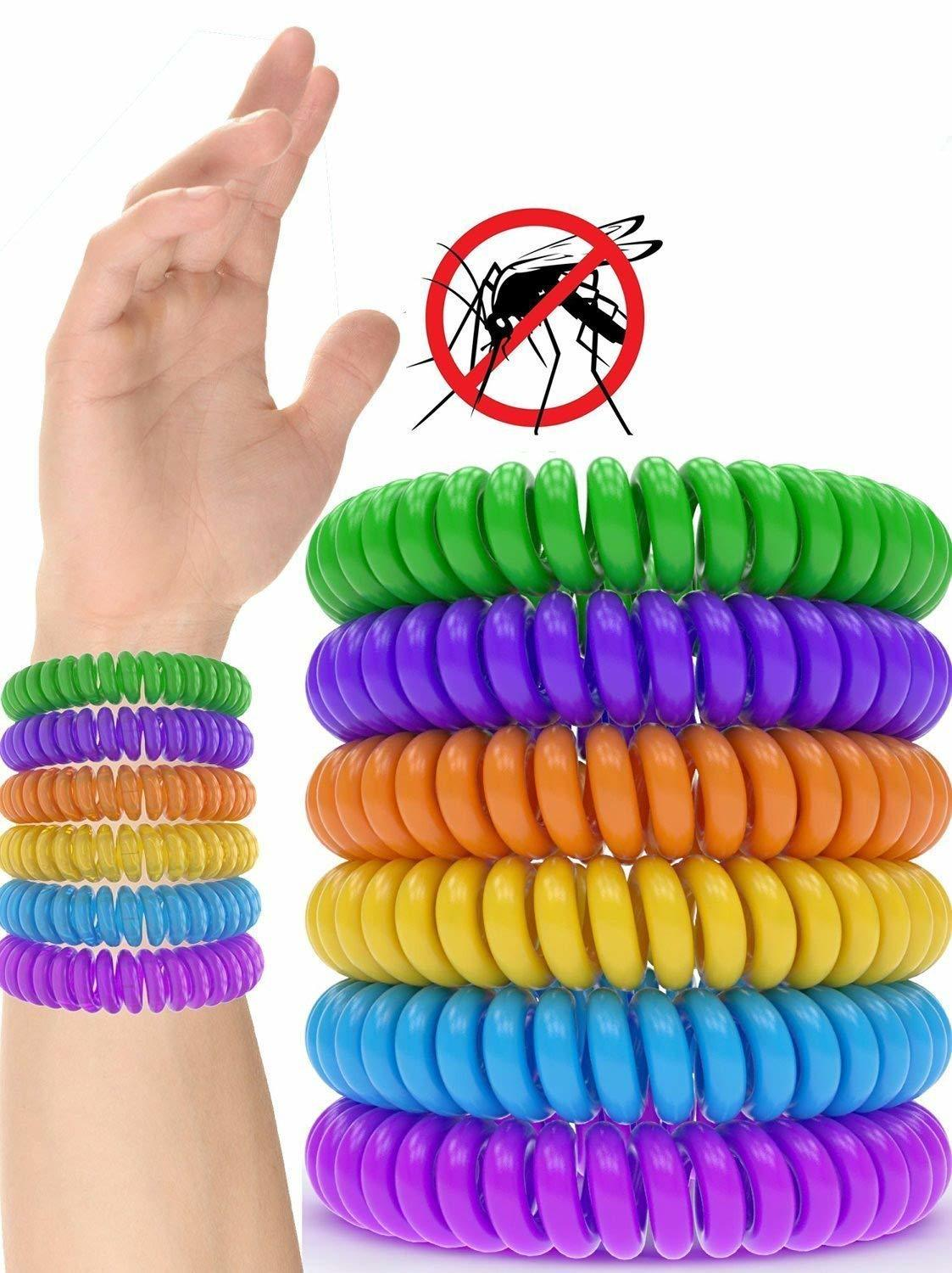 12 Pack Mosquito Repellent Bracelet Band